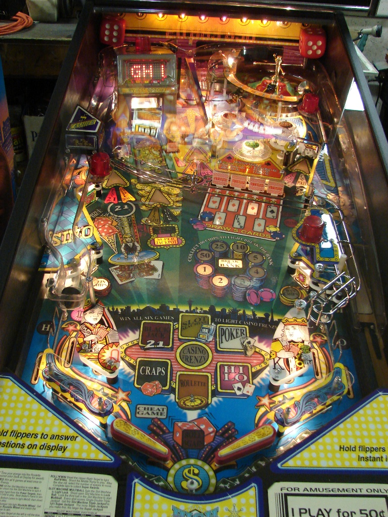 High roller casino pinball mods